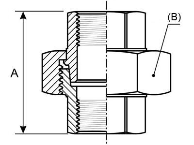 Junções Cónicas Roscadas F/F em Aço Inox AISI 316 Rosca BSP