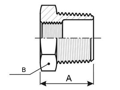 Porcas Redução M/F em Aço Inox AISI 316 Rosca BSP